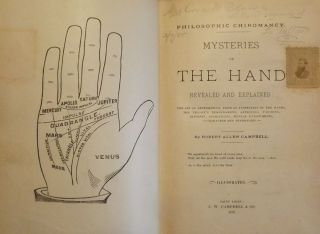 MYSTERIES OF THE HAND REVEALED AND EXPLAINED PALMISTRY PALM READING. Robert Allen CAMPBELL