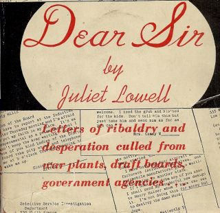 DEAR SIR. Juliet LOWELL.