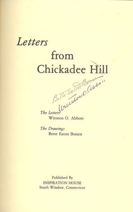 LETTERS FROM CHICKADEE HILL