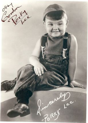 "SIGNED PHOTOGRAPH. Gordon ""Porky"" LEE"