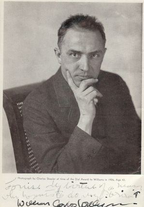 SIGNED PHOTOGRAPH. WILLIAM CARLOS WILLIAMS