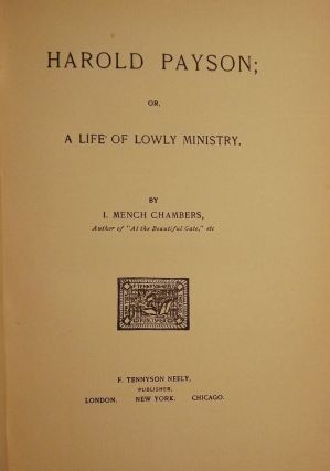 HAROLD PAYSON; OR, A LIFE OF LOWLY MINISTRY