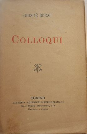 COLLOQUI. Giosue BORSI