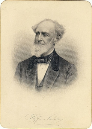 Cabinet Card Portrait Engraving. Fitz-Greene HALLECK