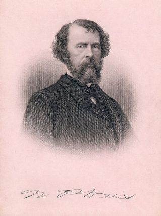 Cabinet Card Portrait Engraving. Nathaniel P. WILLIS