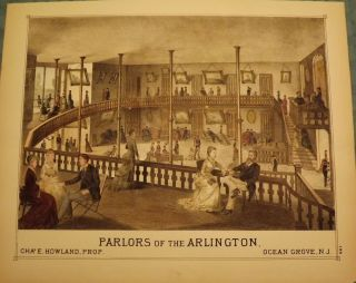 OCEAN GROVE: PARLORS OF THE ARLINGTON. WOOLMAN AND ROSE ATLAS OF THE NEW JERSEY COAST