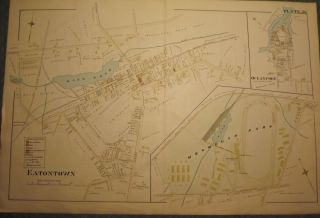 EATONTOWN MAP: 1889. WOLVERTON'S ATLAS OF MONMOUTH COUNTY