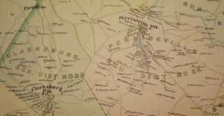 MILLSTONE TOWNSHIP MAP, 1889. WOLVERTON'S ATLAS OF MONMOUTH COUNTY