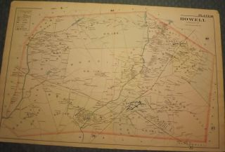 HOWELL TOWNSHIP: 1889 MAP. WOLVERTON'S ATLAS OF MONMOUTH COUNTY