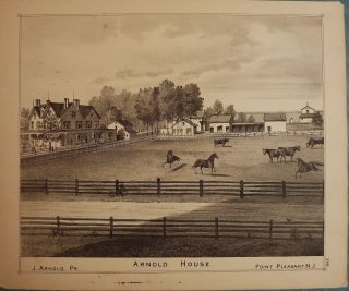 POINT PLEASANT: ARNOLD HOUSE. WOOLMAN AND ROSE ATLAS OF THE NEW JERSEY COAST