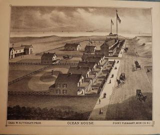 POINT PLEASANT: OCEAN HOUSE. WOOLMAN AND ROSE ATLAS OF THE NEW JERSEY COAST