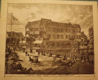 ATLANTIC CITY: COLONNADE HOUSE. WOOLMAN AND ROSE ATLAS OF THE NEW JERSEY COAST.