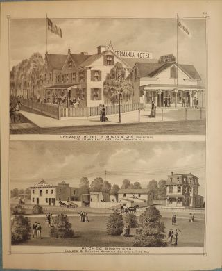 LONG BRANCH/ CAPE MAY: GERMANIA HOTEL, HUGHES BORTHERS LUMBER. WOOLMAN AND ROSE ATLAS OF THE NEW...