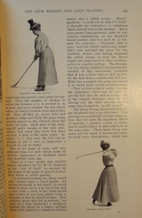 GOLF AND THE NEW WOMAN: In COSMOPOLITAN MAGAZINE, AUGUST 1896. Mrs. Reginald DE KOVEN