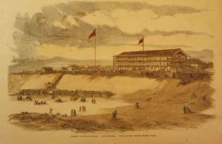 LONG BRANCH: SUMMER WATERING-PLACES. VIEW OF THE UNITED STATES HOTEL