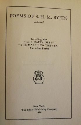 POEMS OF S.H.M. BYERS. S. H. M. BYERS