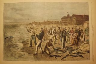 ASBURY PARK: BLUE FISHING. HARPER'S WEEKLY