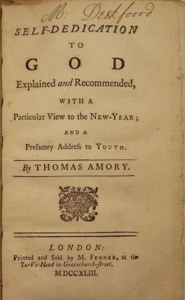 SELF-DEDICATION TO GOD. Thomas AMORY