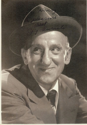 Signed Photograph. Jimmy DURANTE