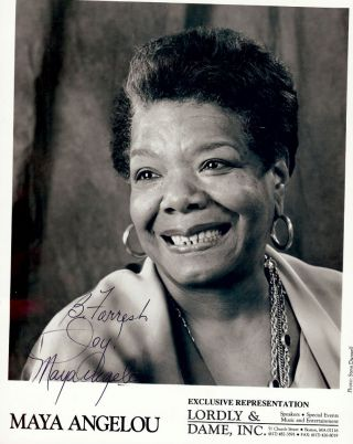 SIGNED PHOTOGRAPH. MAYA ANGELOU