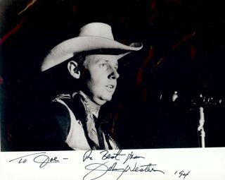 Signed Photograph. Johnny WESTERN