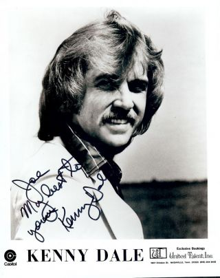 Signed Photograph. Kenny DALE