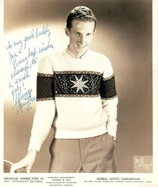 Signed Photograph. George HAMILTON IV