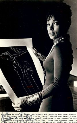 Signed Photograph. Ruby DEE