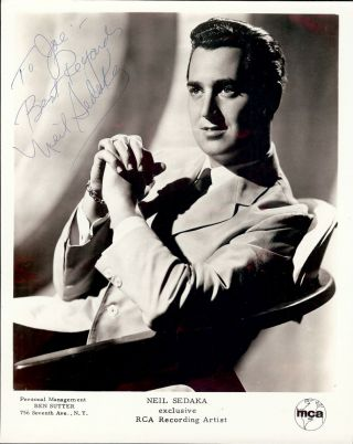 Signed Photograph. Neil SEDAKA