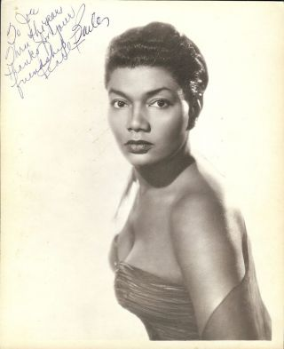 Signed Photograph. Pearl BAILEY