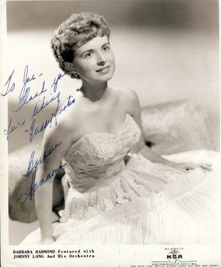 Signed Photograph. Barbara HAMMOND