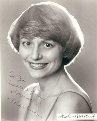 Signed Photograph. Marlene VERPLANCK