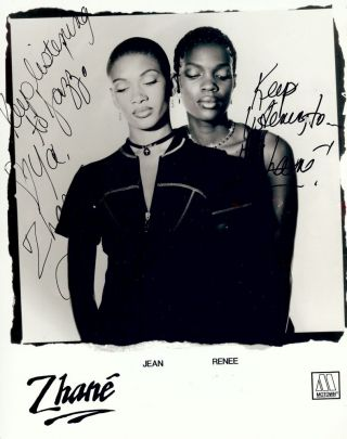 Signed Photograph. ZHANE