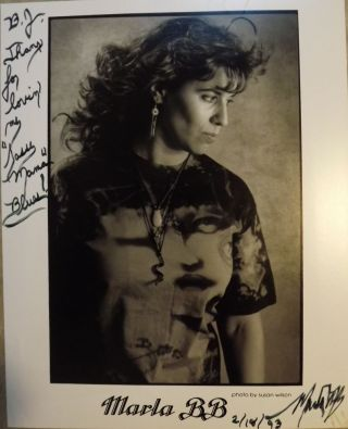 Signed Photograph. MARLA BB