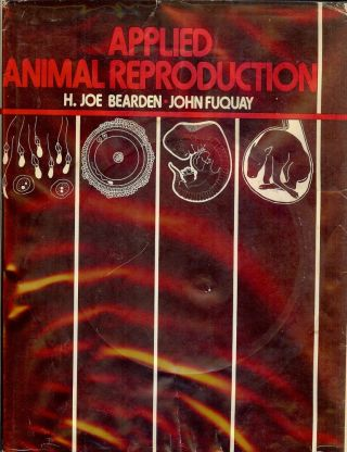 APPLIED ANIMAL REPRODUCTION. H. Joe BEARDEN