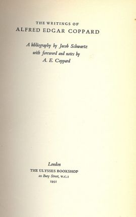 THE WRITINGS OF ALFRED EDGAR COPPARD