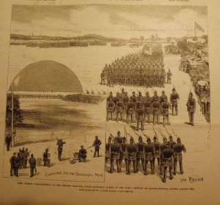 SEA GIRT: NATIONAL GUARD ENCAMPMENT. FRANK LESLIE'S ILLUSTRATED NEWSPAPER