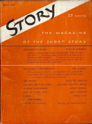 Summer Remembered, In Story Magazine, July 1937. John CHEEVER