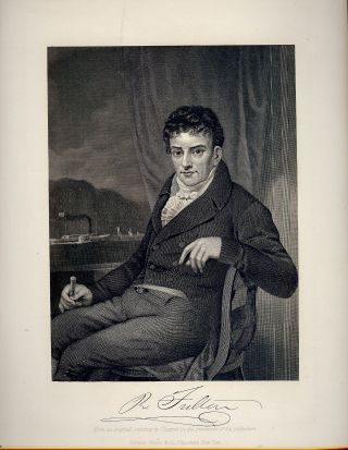 Steel-Engraved Portrait. Robert FULTON