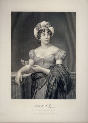 Steel-Engraved Portrait. Madame De STAEL