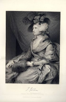 Steel-Engraved Portrait. Sarah SIDDONS