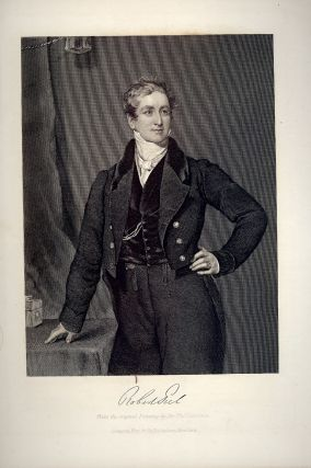 Steel-Engraved Portrait. Robert PEEL