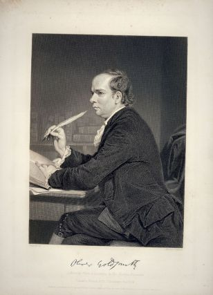 Steel-Engraved Portrait. Oliver GOLDSMITH