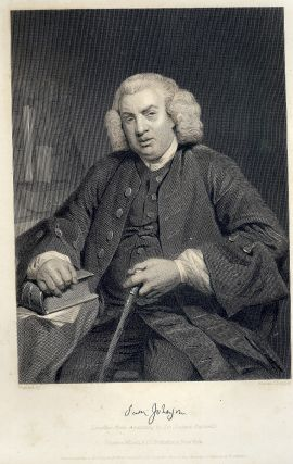 Steel-Engraved Portrait. Samuel JOHNSON