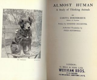 ALMOST HUMAN: A STUDY OF THINKING ANIMALS