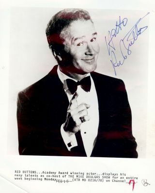 Signed Photograph. Red BUTTONS