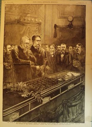 GARFIELD ASSASSINATION PRINT, 1881. FRANK LESLIE'S ILLUSTRATED NEWSPAPER