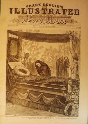 PRESIDENT GARFIELD ASSASSINATION: FUNERAL PRINT, 1881. FRANK LESLIE'S ILLUSTRATED NEWSPAPER.