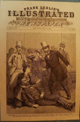 PRESIDENT GARFIELD ASSASSINATION PRINT, 1881. FRANK LESLIE'S ILLUSTRATED NEWSPAPER