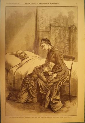 LONG BRANCH- ELBERON: PRESIDENT GARFIELD'S DEATH PRINT, 1881. FRANK LESLIE'S ILLUSTRATED NEWSPAPER